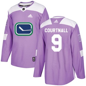 Youth Russ Courtnall Vancouver Canucks Adidas Authentic Purple Fights Cancer Practice Jersey